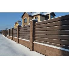 Заборная доска UnoDeck Patio полнотелая 140х12 мм