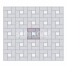 Брусчатка 200х100х60 Темно-красная (верхний прокрас)
