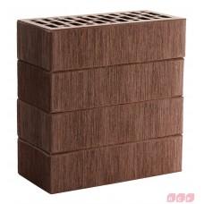 Облицовочный кирпич темно-коричневый (гладкий, тростник, кора, рустик) ЛСР