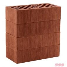Облицовочный кирпич темно-красный (гладкий, тростник, кора, рустик) ЛСР