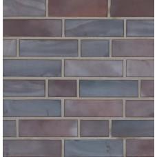 Ströher фасадная плитка 325 Achatblau-bunt (неглазурованная плитка) 240х71х11