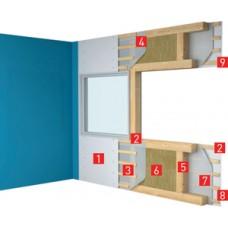 Ветро-влагозащитная мембрана ROCKWOOL для стен, кровель, потолка (30м2)