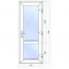 Входная пластиковая дверь Veka 2100*800