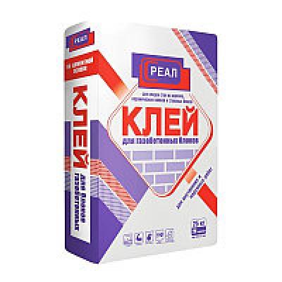 Клей для газобетона REAL 25 кг