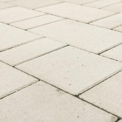Плитка тротуарная Браер Белая Ландхаус 1