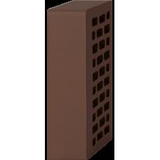 Кирпич лицевой шоколад 1НФ утолщенная стенка - Гладкий