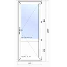 Легкая пластиковая дверь VEKA  WHS 60  2000*700
